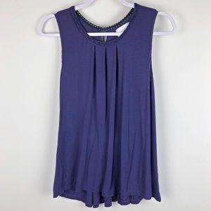 ANTHRO✨Deletta Purple Sleeveless Blouse sz M